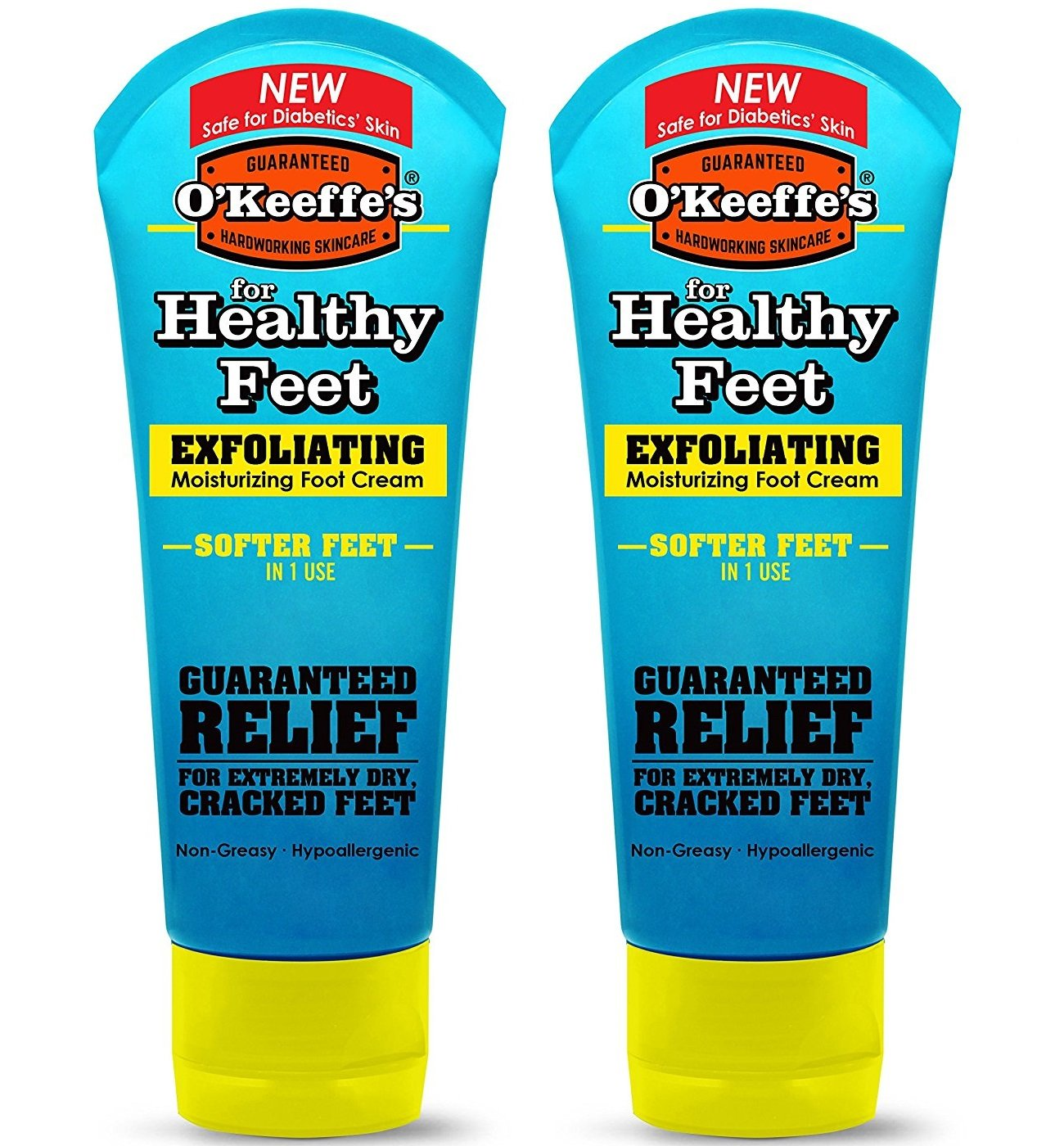 O'Keeffe's Healthy Feet, Exfoliating Foot Cream, 3 oz. Tube - 2 Pack by O'Keeffe's