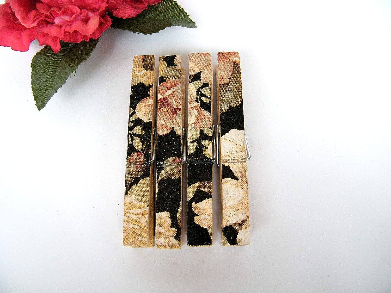 Imàn Pinza de madera decorativas, imànes para nevera, 4 pinzas ...
