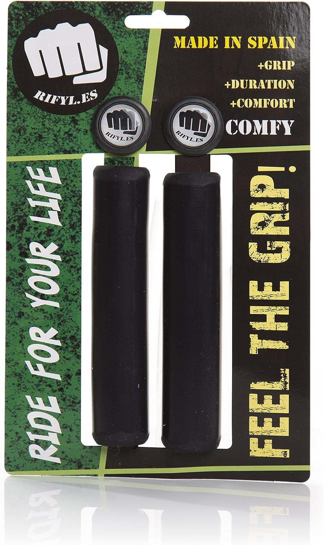 RIFYL (Comfy) Juego de puños para Bicicleta o Mountain Bike, Color Negro, diámetro 32mm: Amazon.es: Deportes y aire libre