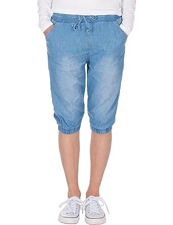 4c83b5af6fa72 Fraternel Damen Hose Stoffhose Shorts Bermuda Capri knielang