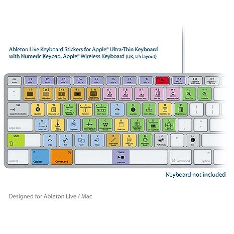 Ableton Live Pro Laptop clave Atajos de Teclado Pegatinas Etiquetas ...
