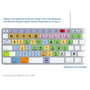 Ableton Live Pro Laptop clave Atajos de Teclado Pegatinas Etiquetas: Amazon.es: Electrónica