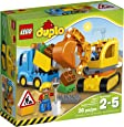 LEGO DUPLO Town Truck & Tracked Excavator 10812, Best Gift for 1-4Year-Olds