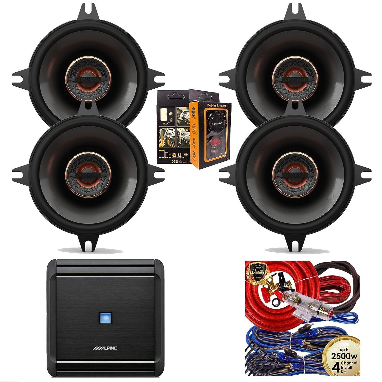 Amazon com: Alphine MRV-F300 300W 4-Channel Car Amplifier +