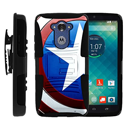 MINITURTLE Case Compatible w/Motorola Droid Turbo XT1254, Hybrid Dual Layer Belt Clip Holster