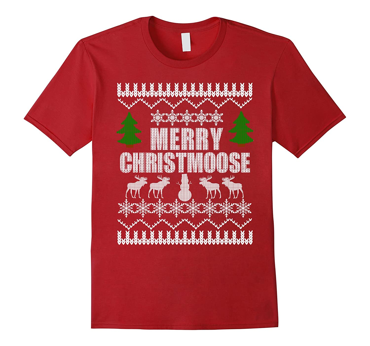 UGLY CHRISTMAS SWEATER SHIRT Holiday Moose T-Shirt Party