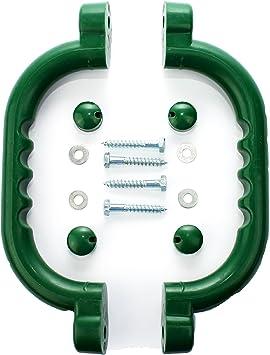 Hiks - Juego de 2 Asas de Agarre Verdes, Ideales para Paredes de Escalada, casa de árbol y para Zonas de Juegos Infantiles (también Disponible en ...