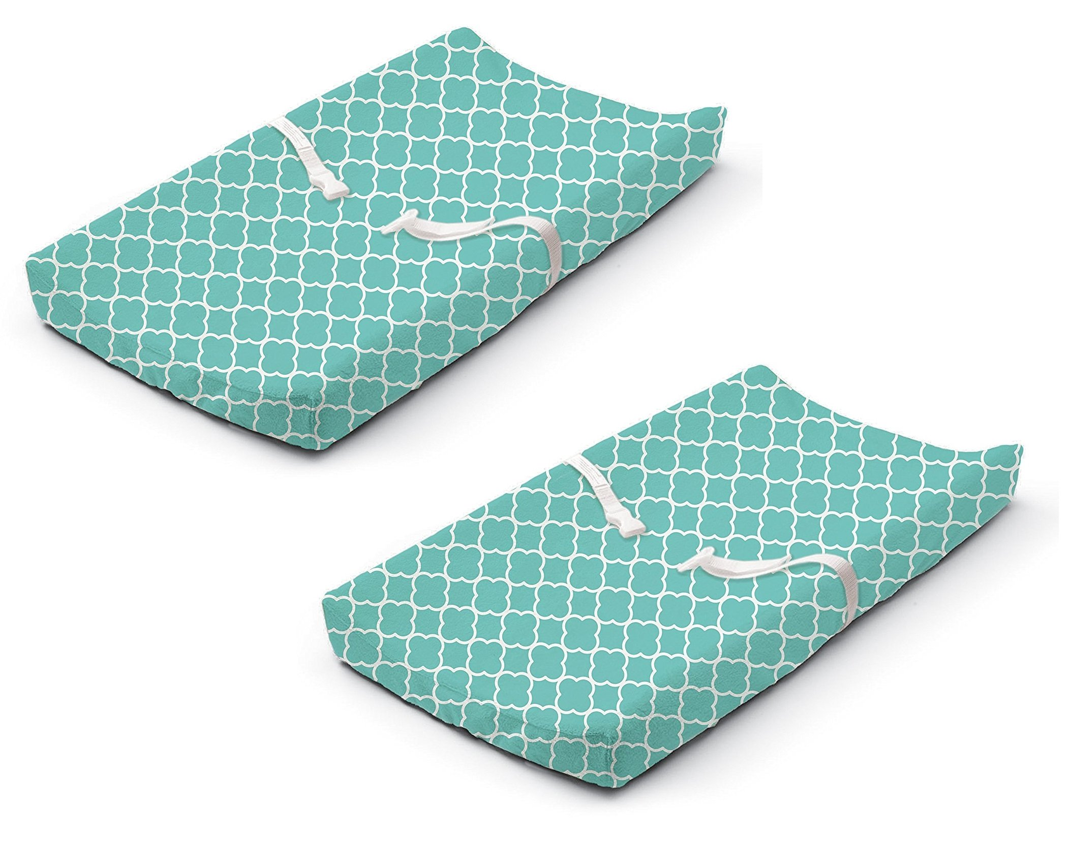 Summer Infant Ultra Plush Changing Pad Cover, Teal Medallion, 2 Pack