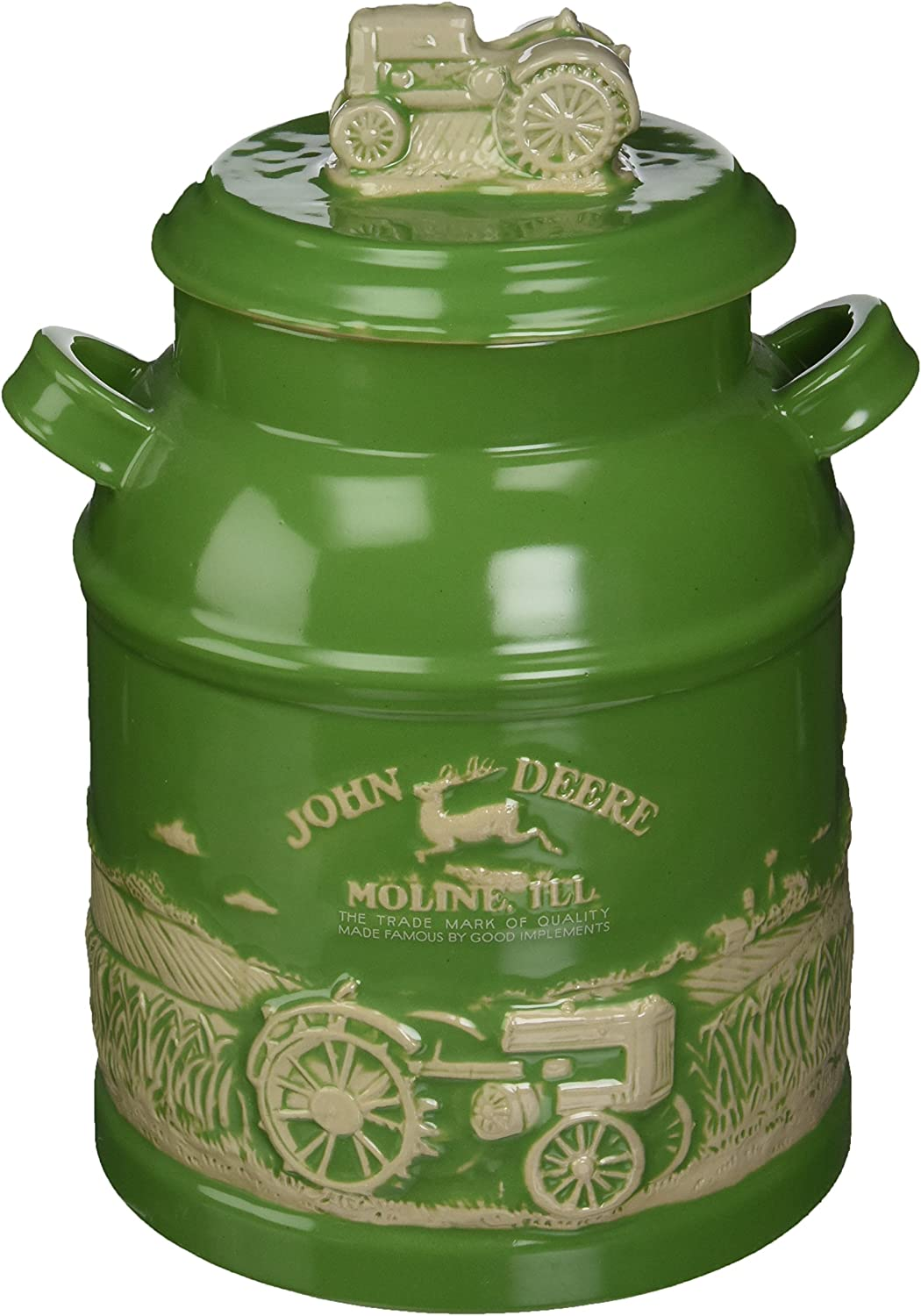 M. CORNELL IMPORTERS 6934 John Deere Milk Can Cookie Jar
