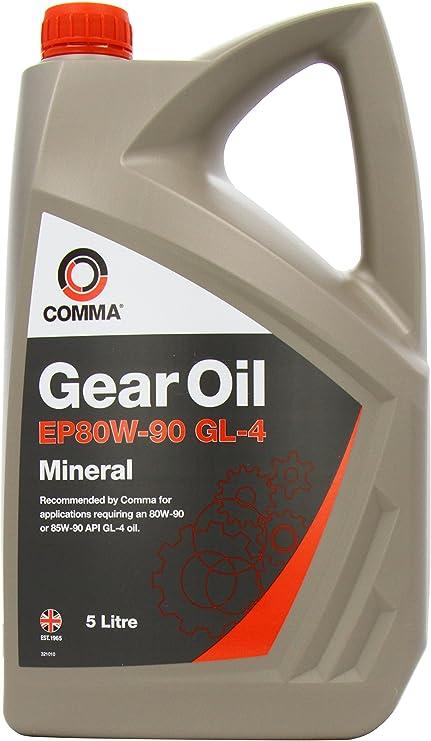 Comma GO45L - Aceite Mineral para Cajas de Cambios (80W-90, 5 l ...