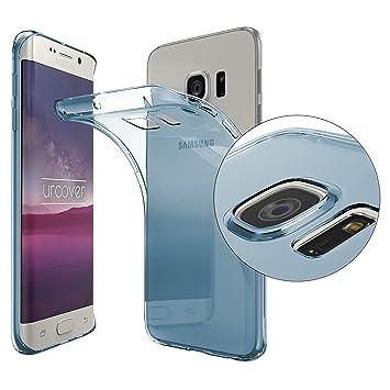 Urcover® Funda Compatible con Samsung Galaxy S6 Edge Plus Carcasa Protectora Trasero Protector de Cámara Cover Silicona Ultra-Delgada Suave Back Case ...