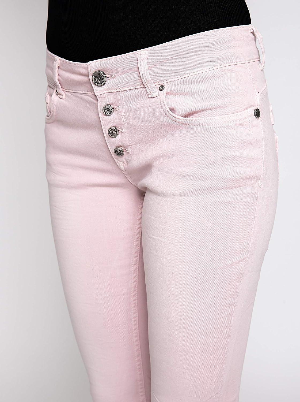 Coccara dames jeans broek Curly New Women's Denim CN116706 Cn677 - roze.