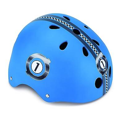 Globber PKGB0000500-001 Casque de Protection Garçon, Bleu, Taille : XS (51-54 cm)
