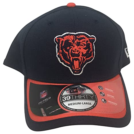 997ccb9f3 Image Unavailable. Image not available for. Color  NEW ERA 39Thirty Chicago  Bears Navy Hat ...