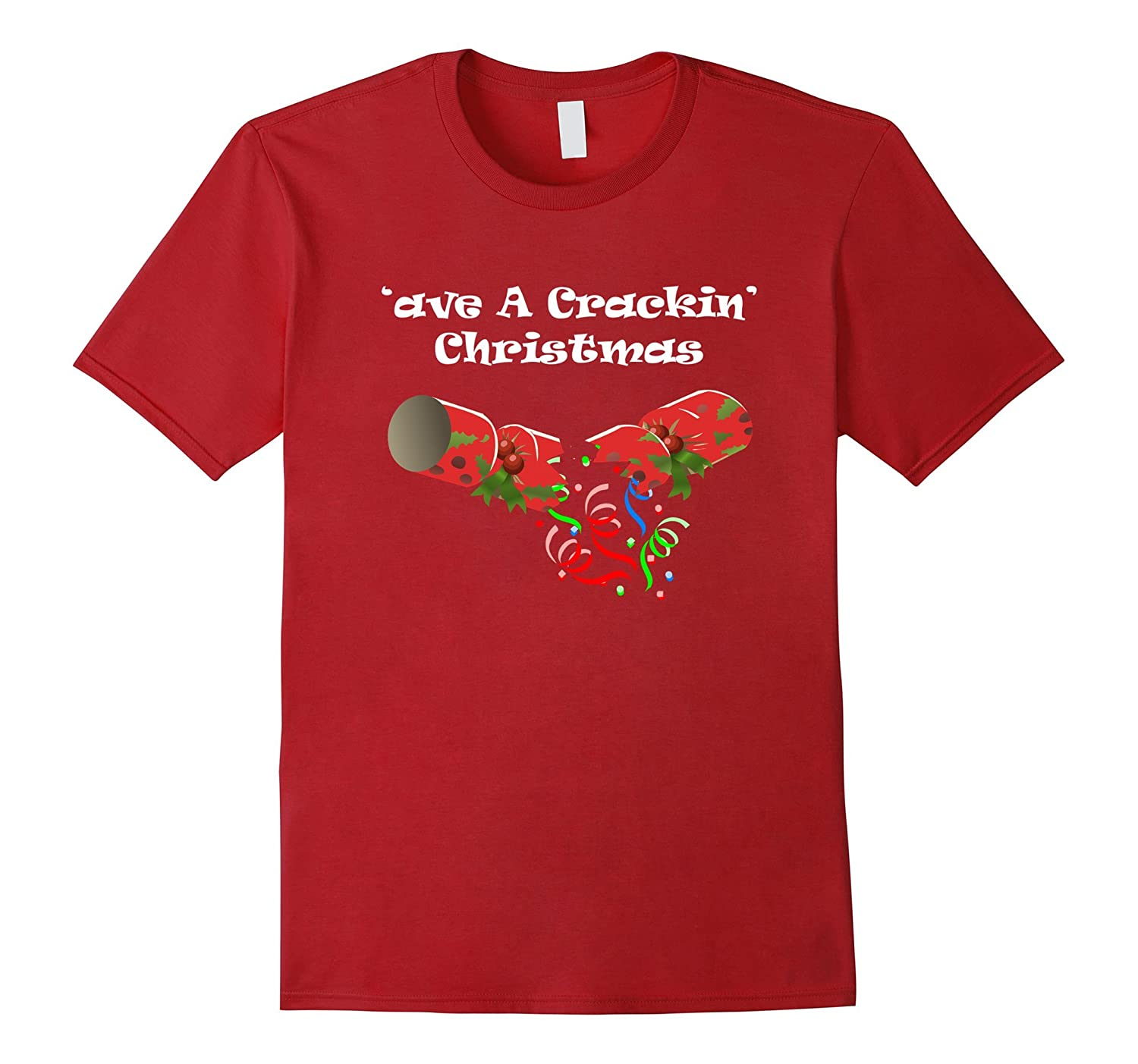 'ave A Crackin' Christmas Fun Holiday British Tee Shirt-Rose
