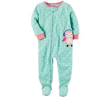 d2645bedb2 Amazon.com  Carter s Girls  12M-14 One Piece Owl Earmuffs Pajamas ...