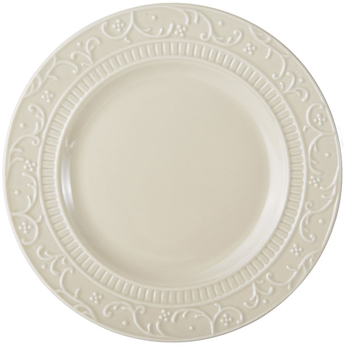 Italian Countryside Accents Scroll Beige Salad Plate online at Mikasa.com