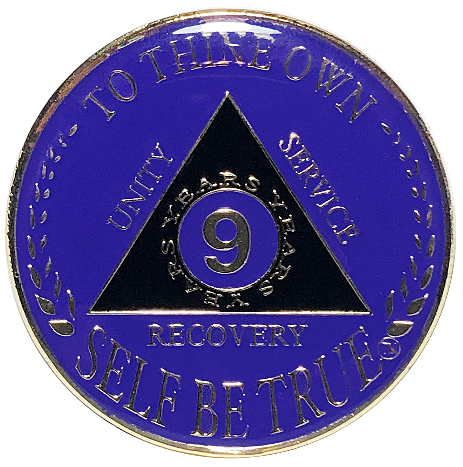 Recovery Token AA Coin 4 Year Gold Purple Color Tri-Plated Medallion