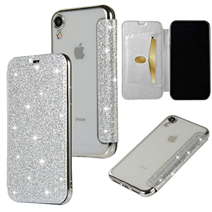 iphone xr transparent flip case