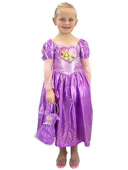 31beb2fb1 Amazon.com: Disney Girls Rapunzel Dress Up Costume with Bag Purple: Clothing