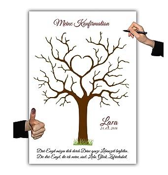 Konfirmation Fingerabdruckbaum 008 2 Leinwand 30x40cm Erinnerung Geschenk Familienfeier Wedding Tree