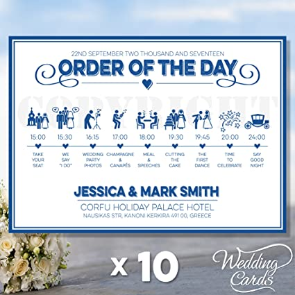 Wedding Order Of Service.10 X Wedding Order Of The Day Sign Poster Order Service Ceremony