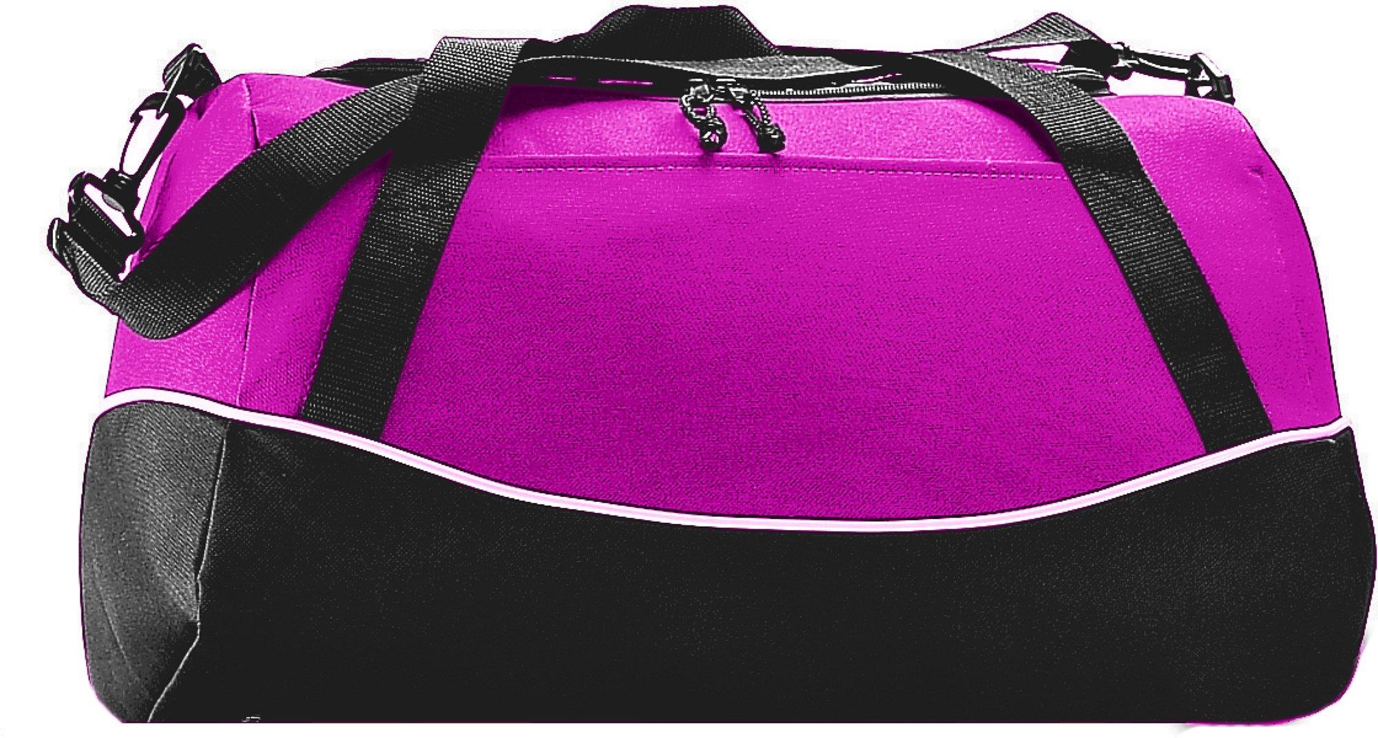 Augusta Sportswear Tri-color Sport Bag OS Power Pink/Black/White