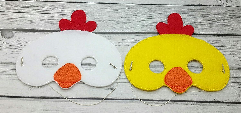 Chicken rooster farm animal felt mask, Halloween costume, toddler pretend play, dress up