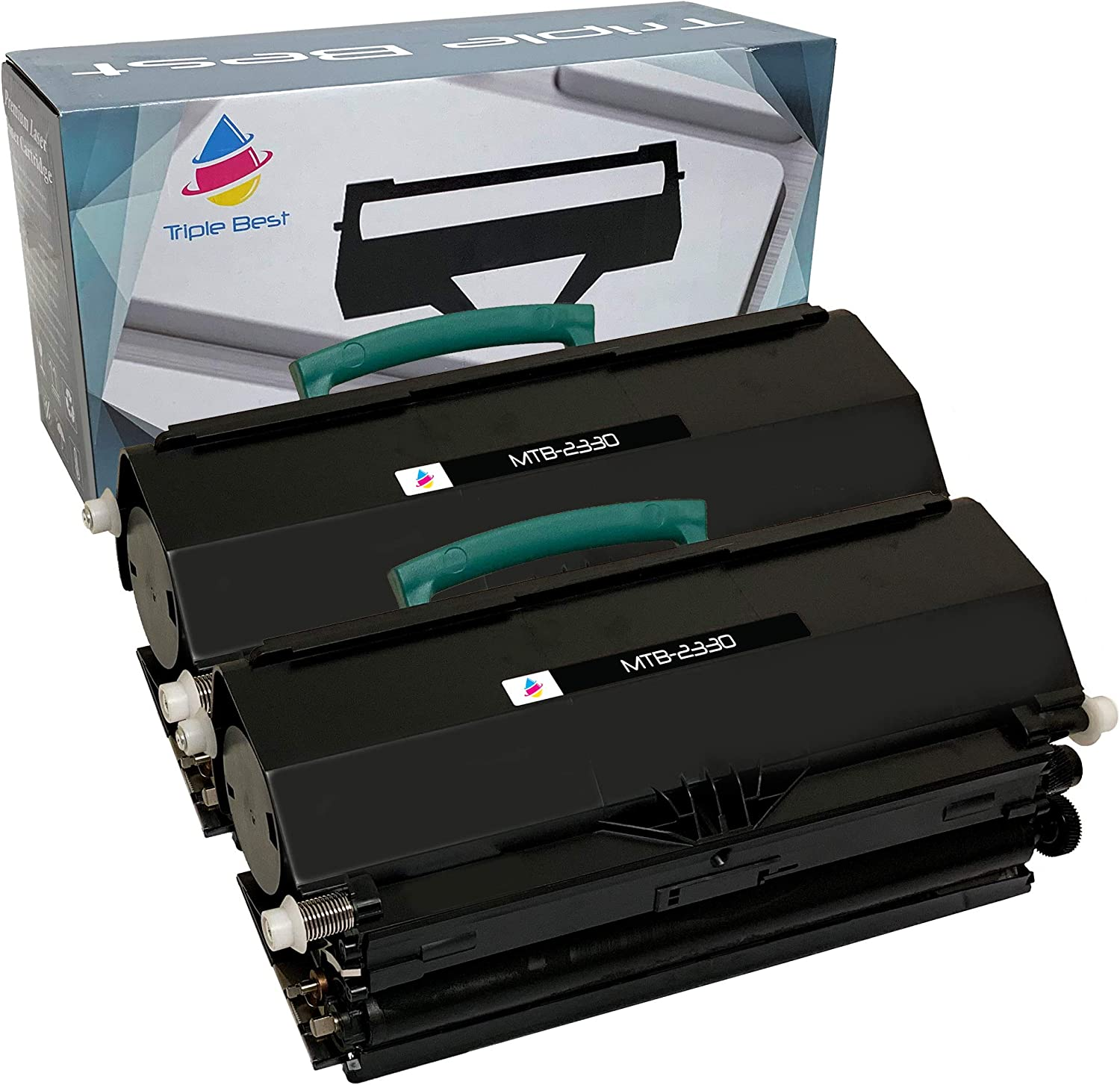 Triple Best Set of 2 Remanufactured Toner Cartridge for Replacement of Dell 2330 2330d 2330dn 2350 2350d 2350dn PK941 XN009 (6,000 Pages)