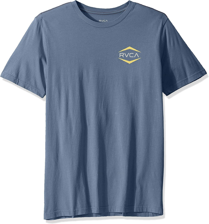 RVCA Mens Astro Hex Short Sleeve Crew Neck T-Shirt