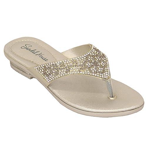 7f83da3e79daac ragazze Sandali con strass bambini slip on sandali infradito PARTY  Pantofole MODA ESTATE NUOVO: Amazon.it: Scarpe e borse