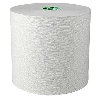 Toalla de mano Centro de alimentación Rollos Blanco-Paquete de 6toalla de papel