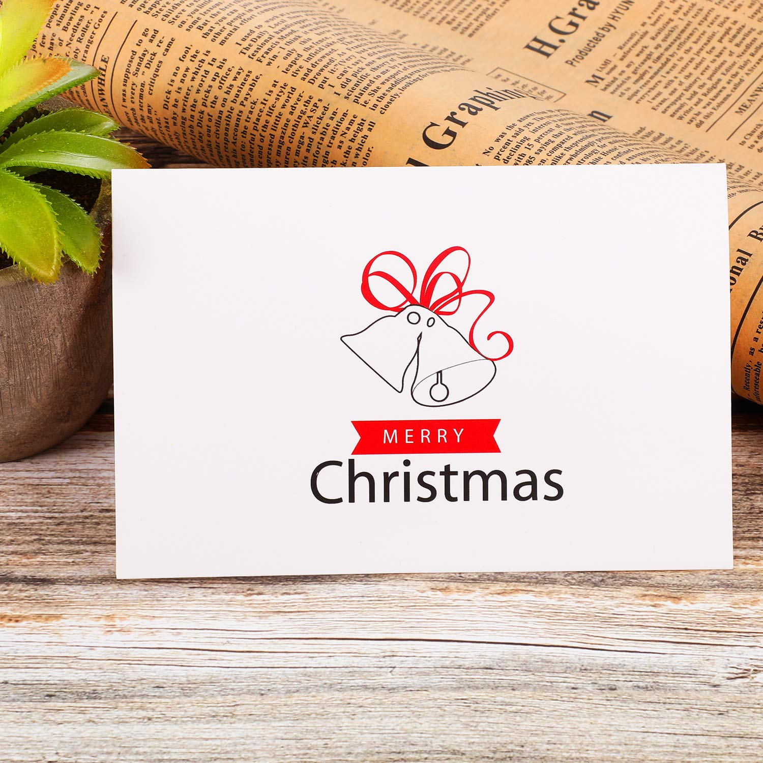 Gejoy 30 Pieces Christmas Place Cards Small Tent Cards Xmas Notecards Foldover Table Placecards Collection for Holiday Dinner Parties