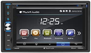 Planet Audio P9630B Car DVD Player – Double Din, Bluetooth Audio and Calling, 6.2 Inch LCD Touchscreen Monitor, MP3 Player, CD, DVD, WMA, USB, SD, Auxiliary Input, AM/FM Radio Receiver