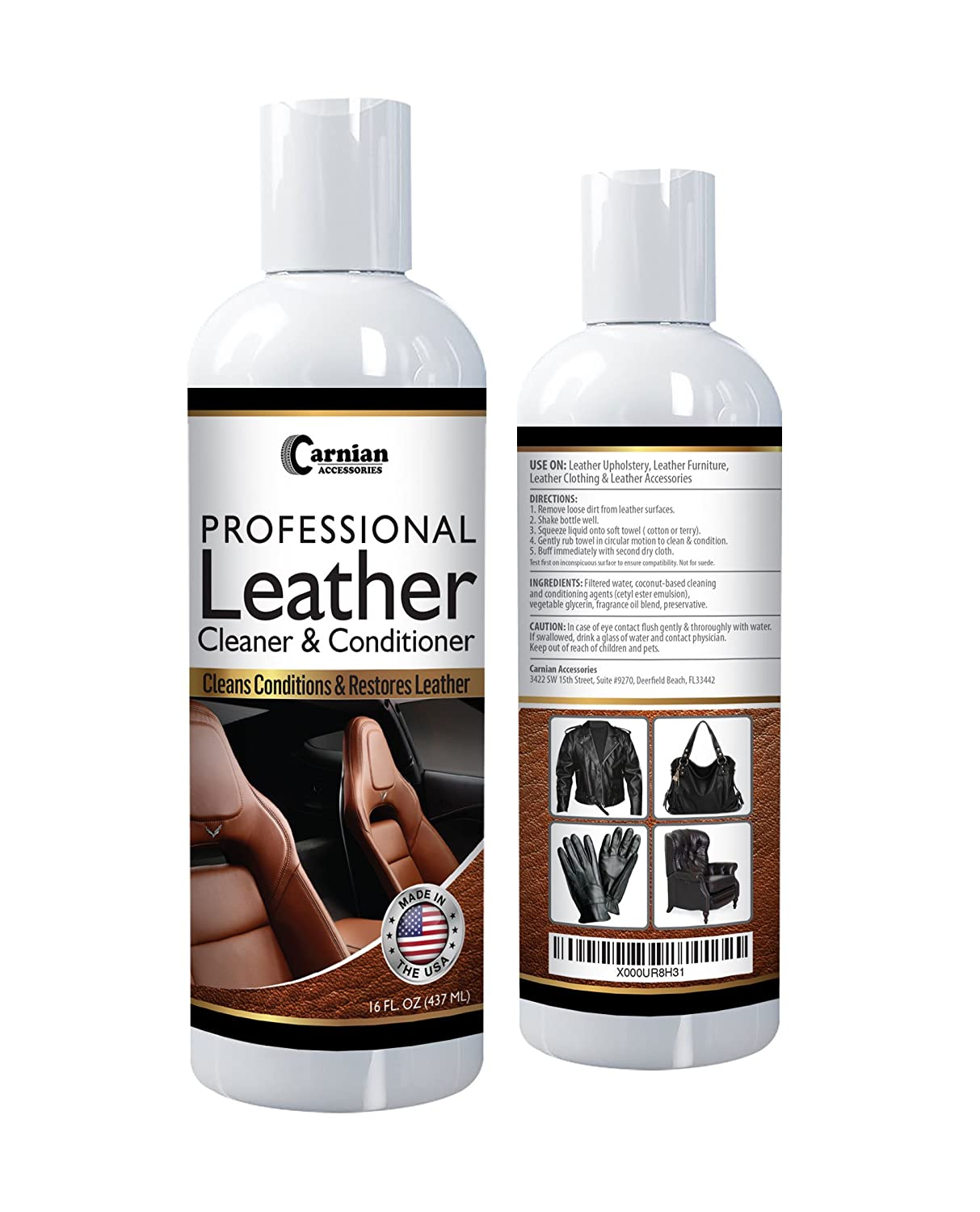 Amazon.com: Carnian Professional Leather Cleaner and Conditioner ...