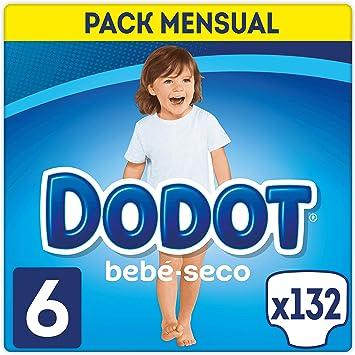 Oferta amazon: DODOT Bebé-Seco Pañales Talla 6, 132 Pañales, Pañal con Canales de Aire - 13+ kg