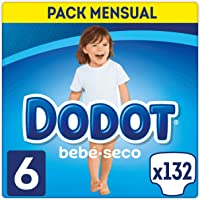 DODOT Bebé-Seco Pañales Talla 6, 132 Pañales, Pañal