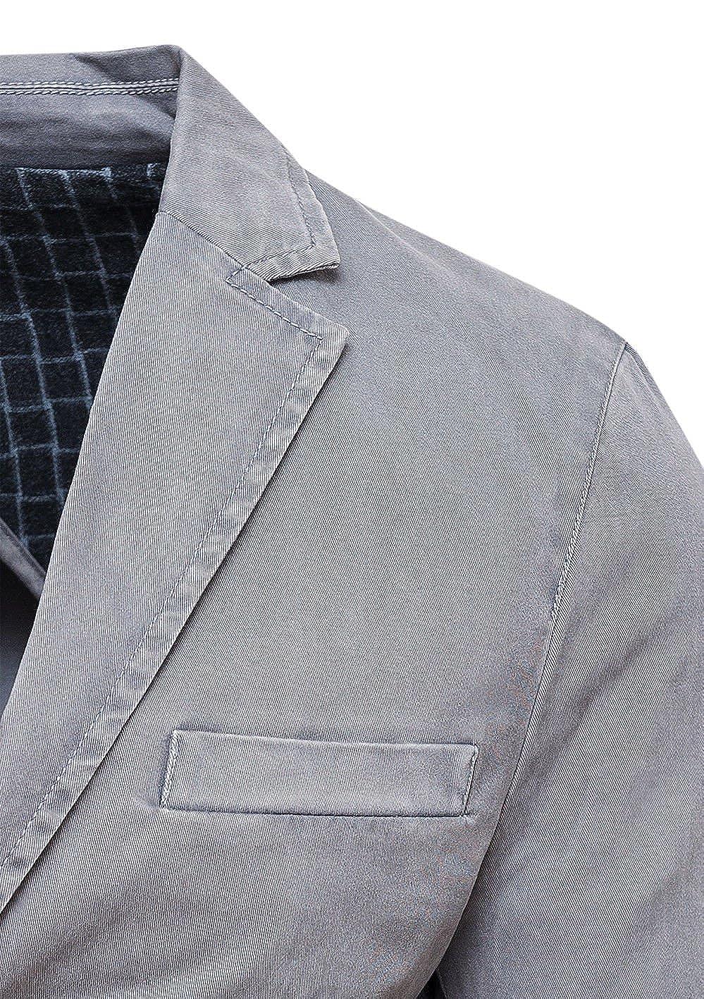 AK collezioni Blazer Giacca Uomo Grigio Slim Fit Elegante Formale Casual