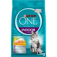Purina One Adult Indoor Cat Food with Chicken 1.5Kg(Pack of 1), 12374927