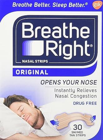 strips Breathe right tan nasal