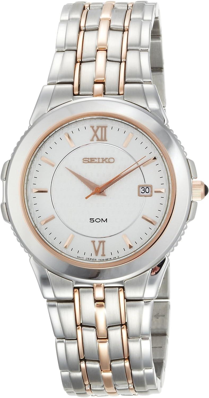 Seiko Men s SKK690 Le Grand Sport Silver-Tone and Rose Tone Watch