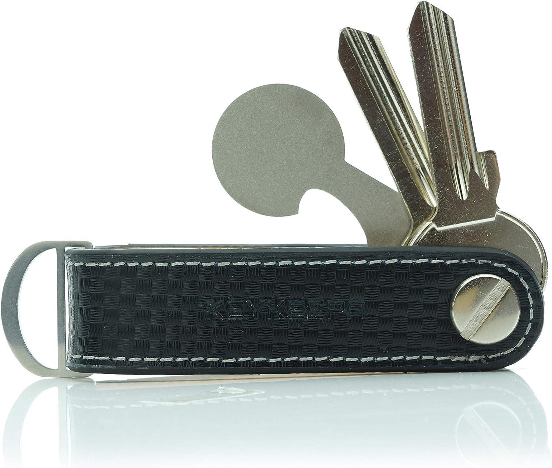 /… Cognac Brown KEYKEEPA/® Loop Leder Key Organizer f/ür bis zu 7 Schl/üssel
