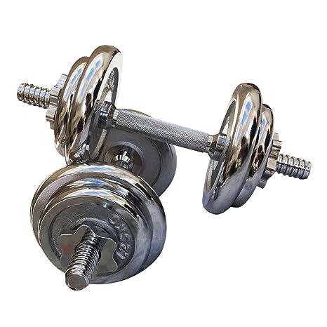Sporteq Juego de mancuernas 20 kg Fuerza y Bodybuilding Levantamiento de pesas gimnasio Fitness ejercicio entrenamiento