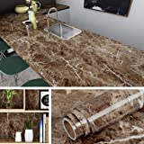 Livelynine Counter top Covers Peel and Stick Wallpaper Self Adhesive Marble Wall Paper Roll Kitchen Countertop Marble Adhesive Paper Table Desk Cover Bathroom Vanity Decor Waterproof 15.8 X78.8 INCH