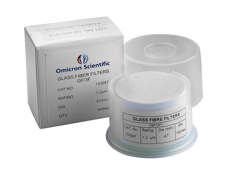 Grade A Fast Flow 1.5 Micron 2.5cm Diameter Thomas A2500 Borosilicate Glass Microfiber Filter Pack of 100