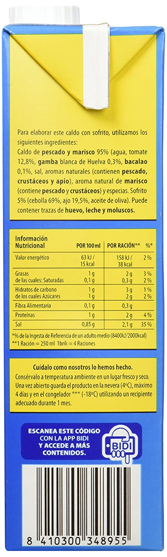 Gallina Blanca Caldo Paella - 1 l: Amazon.es: Amazon Pantry