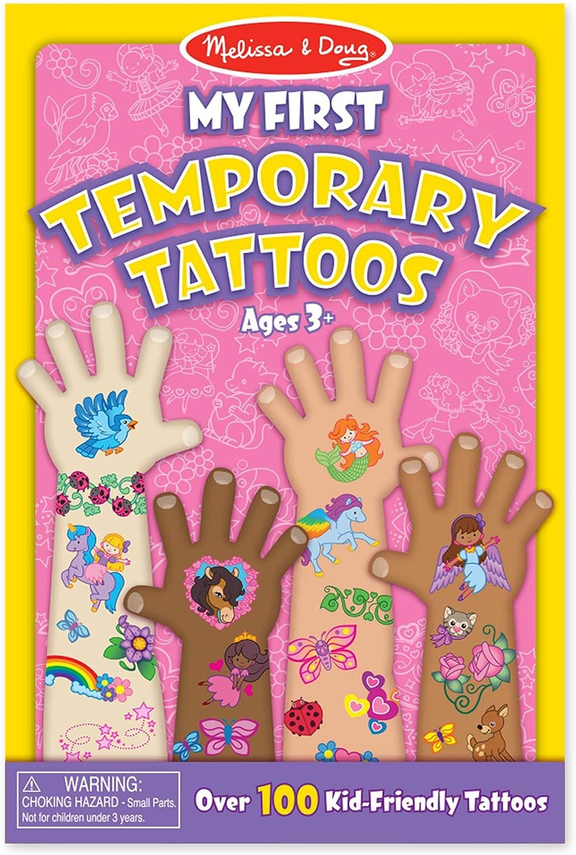 Melissa & Doug-Mis Primeros Tatuajes Provisorios, Multicolor (2946)