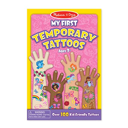 e07a55a07dbc2 Amazon.com: Melissa & Doug My First Temporary Tattoos: 100+ Kid-Friendly  Tattoos - Rainbows, Fairies, Flowers, and More: Melissa & Doug: Toys & Games
