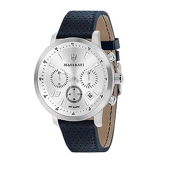 MASERATI Reloj Cronógrafo para Hombre de Cuarzo con Correa en Cuero R8871134004: Amazon.es: Relojes