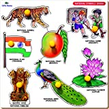 Little Genius National Symbols India with Big Knob (Large)